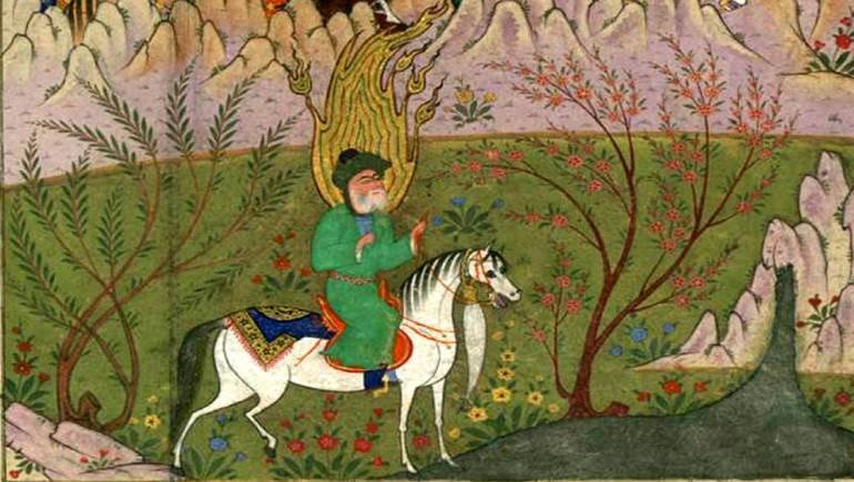- منمنمة فارسية من القرن السادس عشر، متحف والترز.