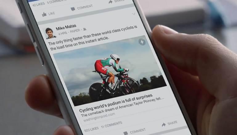"""فيس بوك تتيح خاصية """"المقالات الفورية"""" لجميع الناشرين في العالم"""